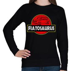 PRINTFASHION Fiatosaurus - Női pulóver - Fekete