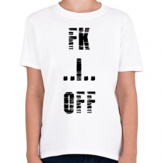 PRINTFASHION FK OFF - Gyerek póló - Fehér