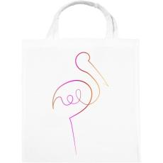 PRINTFASHION Flamingó - Vászontáska - Fehér