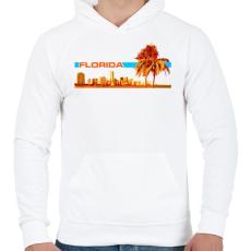PRINTFASHION Florida - Férfi kapucnis pulóver - Fehér