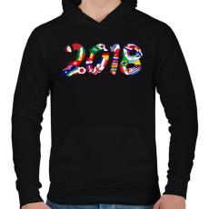 PRINTFASHION Foci VB 2018 - Férfi kapucnis pulóver - Fekete