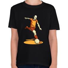 PRINTFASHION Football  - Gyerek póló - Fekete