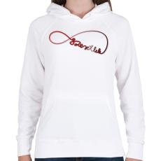 PRINTFASHION Forever3 - Női kapucnis pulóver - Fehér