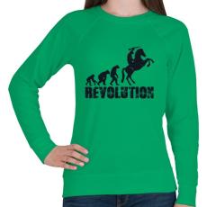 PRINTFASHION Forradalom - Női pulóver - Zöld