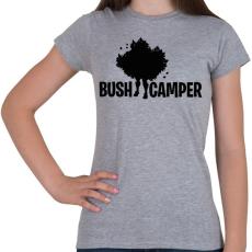 PRINTFASHION Fortnite Bush Camper - Női póló - Sport szürke