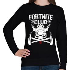 PRINTFASHION Fortnite Club - Női pulóver - Fekete