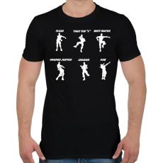 PRINTFASHION Fortnite Dance - Férfi póló - Fekete