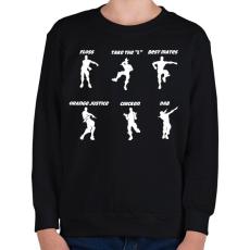 PRINTFASHION Fortnite Dance - Gyerek pulóver - Fekete