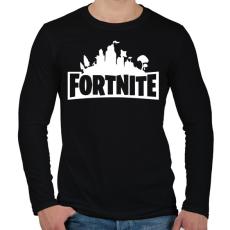 PRINTFASHION FORTNITE - Férfi hosszú ujjú póló - Fekete
