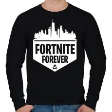 PRINTFASHION Fortnite Forever - Férfi pulóver - Fekete