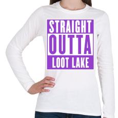 PRINTFASHION Fortnite - LOOT LAKE - Női hosszú ujjú póló - Fehér