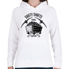 PRINTFASHION Fortnite Mining Company - Női kapucnis pulóver - Fehér