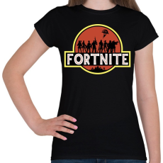 PRINTFASHION Fortnite Park - Női póló - Fekete
