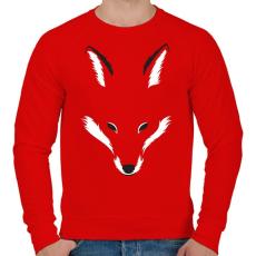 PRINTFASHION Foxy shape - Férfi pulóver - Piros