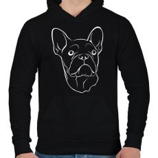 PRINTFASHION Francia bulldog - Férfi kapucnis pulóver - Fekete