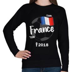 PRINTFASHION Franciaország - Női pulóver - Fekete