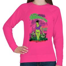 PRINTFASHION Frankenstein menyasszonya - Női pulóver - Fukszia