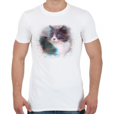 PRINTFASHION Fröcskölt macska - Férfi póló - Fehér