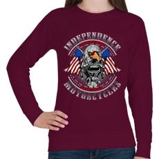 PRINTFASHION Függetlenség - Női pulóver - Bordó
