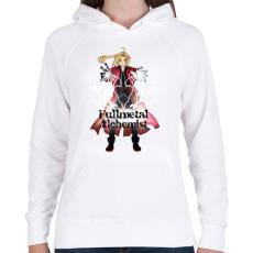 PRINTFASHION Fullmetal Alchemist - Női kapucnis pulóver - Fehér