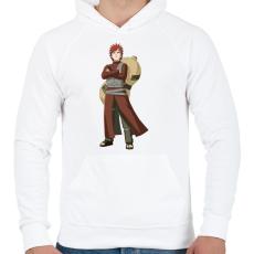 PRINTFASHION Gaara - Férfi kapucnis pulóver - Fehér