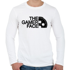 PRINTFASHION Gamer Face - Férfi hosszú ujjú póló - Fehér