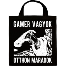 PRINTFASHION Gamer vagyok, otthon maradok - Vászontáska - Fekete