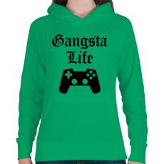 PRINTFASHION Gangsta Life - Női kapucnis pulóver - Zöld