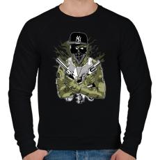 PRINTFASHION Gangsta Zombie - Férfi pulóver - Fekete