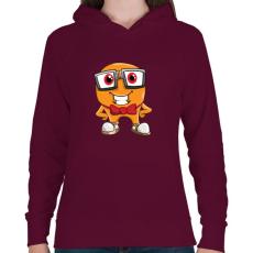 PRINTFASHION Geek - Női kapucnis pulóver - Bordó