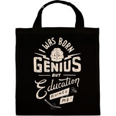 PRINTFASHION Genius - Vászontáska - Fekete