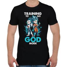 PRINTFASHION GOD MODE - Férfi póló - Fekete