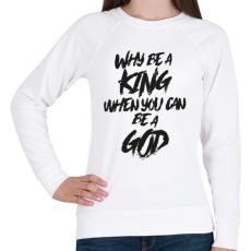 PRINTFASHION God - Női pulóver - Fehér
