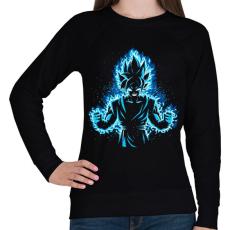 PRINTFASHION God Vegeta - Női pulóver - Fekete