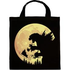 PRINTFASHION Godzilla karácsonya - Vászontáska - Fekete