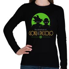 PRINTFASHION Goku és Piccolo - Női hosszú ujjú póló - Fekete női póló