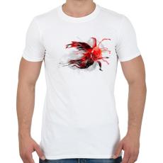 PRINTFASHION Goldfish - Férfi póló - Fehér