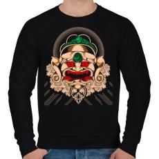 PRINTFASHION Gonosz maszk - Férfi pulóver - Fekete