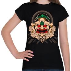 PRINTFASHION Gonosz maszk - Női póló - Fekete