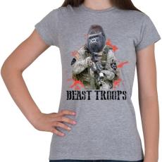 PRINTFASHION Gorilla hadsereg - Női póló - Sport szürke