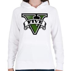 PRINTFASHION GTA V logo - Női kapucnis pulóver - Fehér