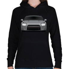 PRINTFASHION GTR - Női kapucnis pulóver - Fekete