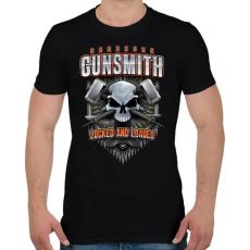 PRINTFASHION Gunsmith - Férfi póló - Fekete