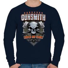 PRINTFASHION Gunsmith - Férfi pulóver - Sötétkék