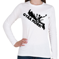 PRINTFASHION Gyáá More - Női hosszú ujjú póló - Fehér