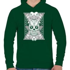 PRINTFASHION Gyémánt koponya - Férfi kapucnis pulóver - Sötétzöld