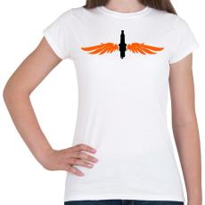 PRINTFASHION gyertya-szarny-orange-black - Női póló - Fehér