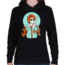 PRINTFASHION Gyilkos bohóc - Női kapucnis pulóver - Fekete