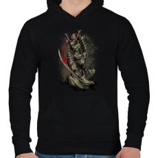 PRINTFASHION Gyilkos - Férfi kapucnis pulóver - Fekete