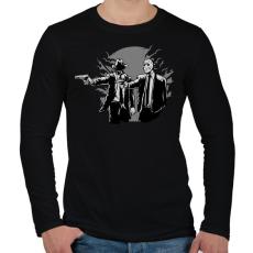 PRINTFASHION Gyilkos páros - Férfi hosszú ujjú póló - Fekete